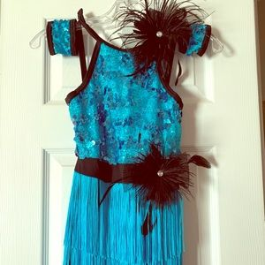 Girls Flapper Jazz Costume Size Mc 10/12
